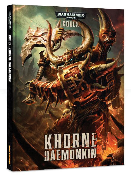 Warhammer 40k: Chaos Space Marine Codex - Khorne Daemonkin (hardcover) Box Front