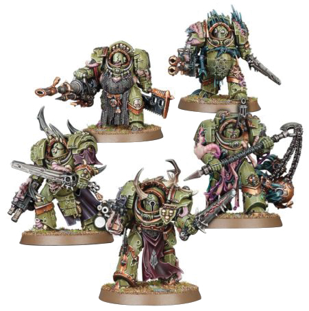 Warhammer 40k: Chaos Space Marine Death Guard Blightlord Terminators Box Front