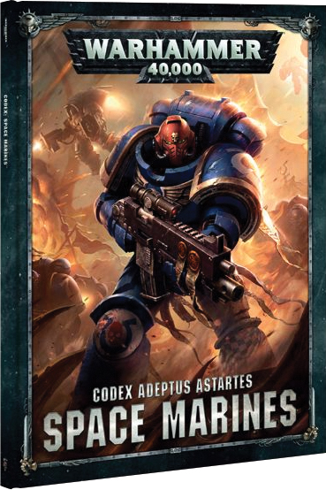 Warhammer 40k: Codex Space Marines (hardcover) Box Front
