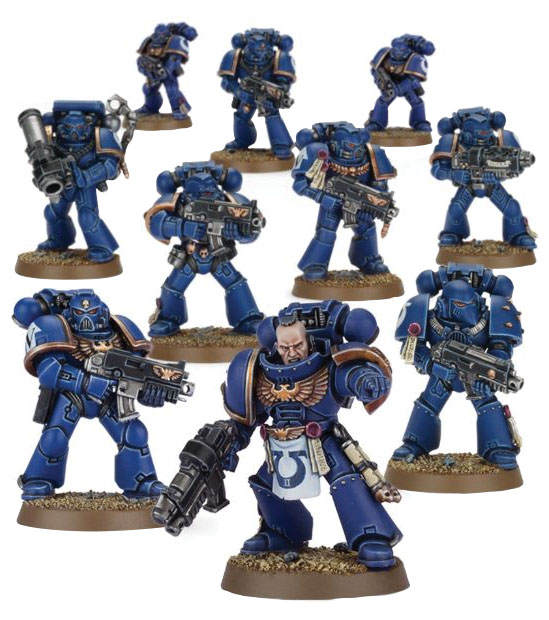 Warhammer 40k: Space Marine Tactical Squad Box Front