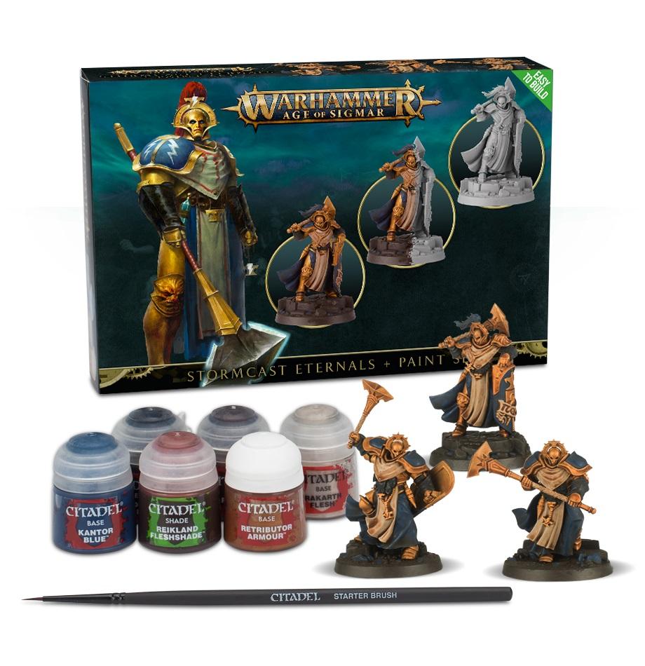 Warhammer Age Of Sigmar: Stormcast Eternals + Paint Set