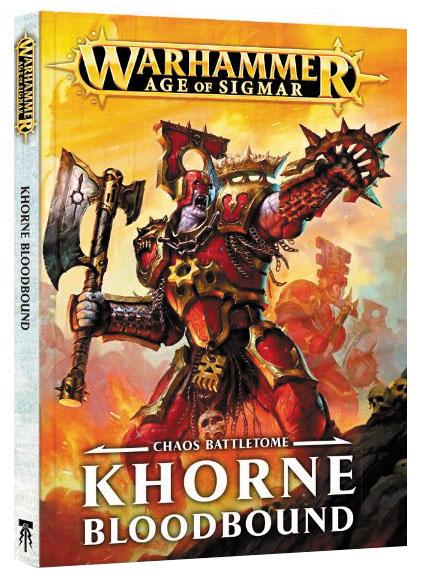 Warhammer Age Of Sigmar: Chaos Battletome - Khorne Bloodbound (hardcover) Box Front