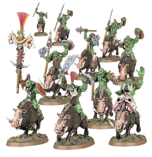 Warhammer Age Of Sigmar: Destruction Bonesplitterz Savage Boarboys Box Front