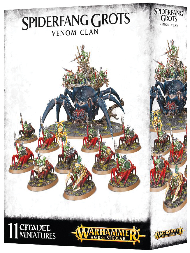 Warhammer Age Of Sigmar: Destruction Spiderfang Grotz Venom Clan Box Front