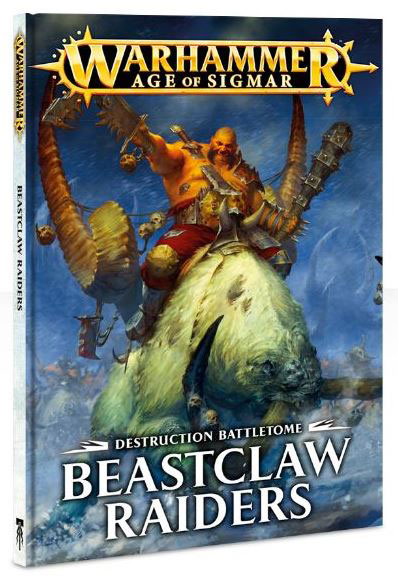 Warhammer Age Of Sigmar: Destruction Battletome - Beastclaw Raiders (softcover) Box Front