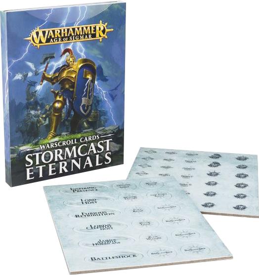 Warhammer Age Of Sigmar: Order Stormcast Eternals Warscroll Cards Game Box