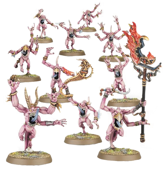 Warhammer: Chaos Daemons Of Tzeentch Pink Horrors Box Front