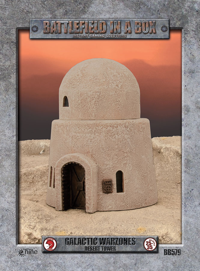 Galactic Warzones: Desert Tower Box Front