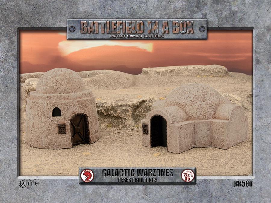Galactic Warzones: Desert Buildings Box Front