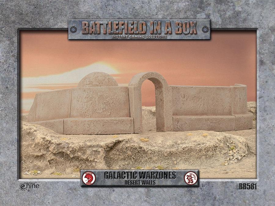 Galactic Warzones: Desert Walls Box Front