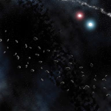 Space Mats: Asteroid Belt 36in X 36in Box Front
