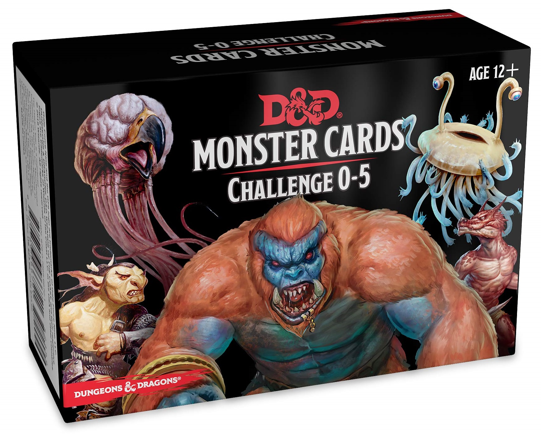 Dungeons And Dragons Rpg: Monster Cards - Challenge 0-5 Deck (268 Cards) Game Box