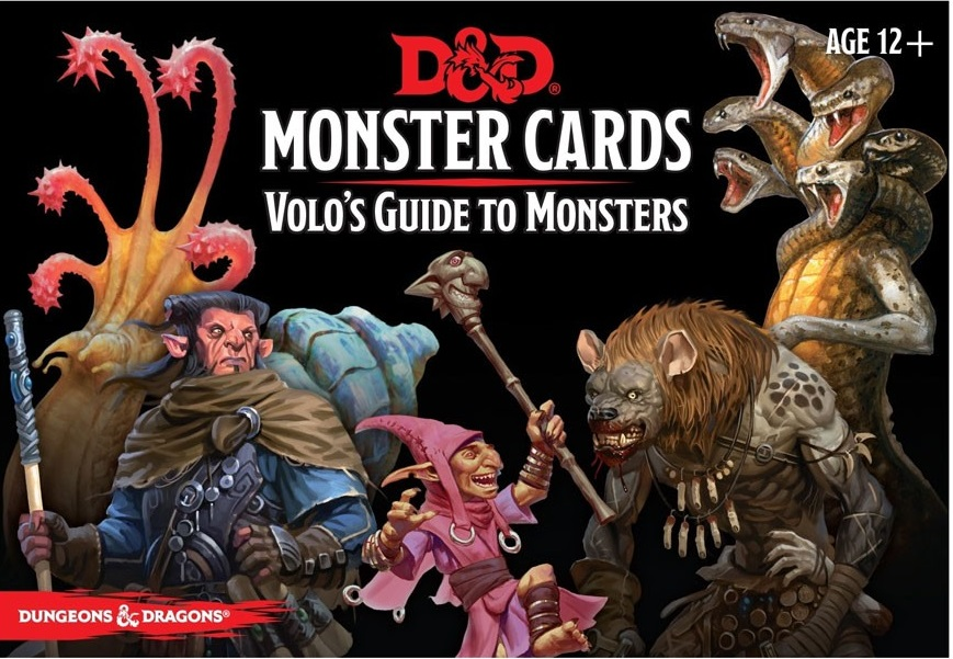 Dungeons And Dragons Rpg: Monster Cards - Volo`s Guide To Monsters (81 Cards) Game Box