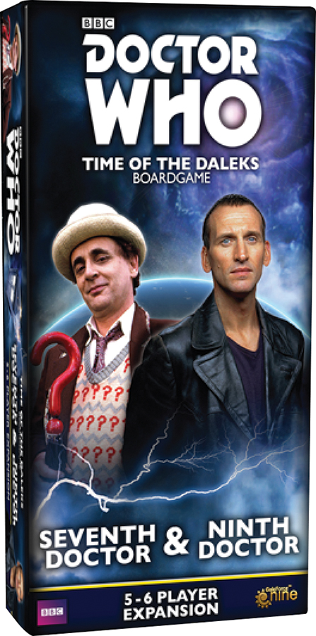 Doctor Who: Time Of The Daleks Board Game - Seventh Doctor And Ninth Doctor 5-6 Player Expansion Box Front