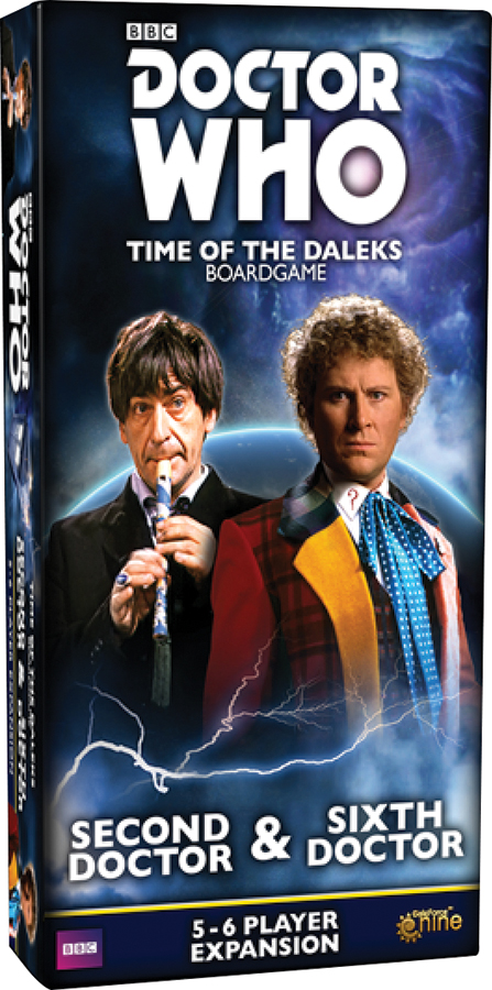 Doctor Who: Time Of The Daleks Board Game - Second Doctor And Sixth Doctor 5-6 Player Expansion Box Front