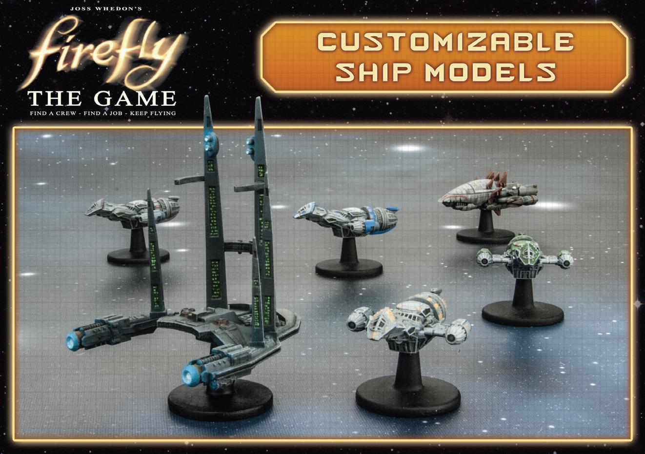 Firefly: The Game - Ship Set (firefly, Bonnie Mae, Bonanza, Alliance Cruiser, Reaver Cutter) Box Front