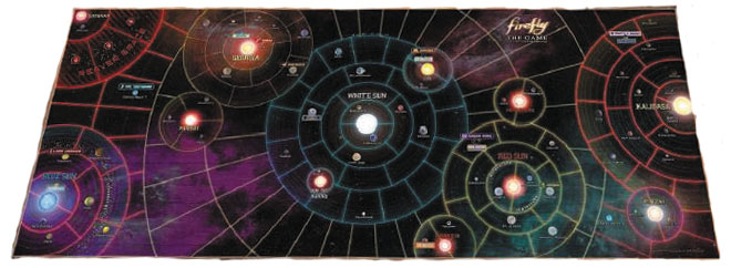 Firefly: The Game - The Whole Damn `verse Vinyl Game Mat 50in X 20in Box Front