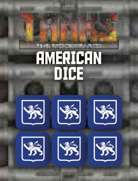 Tanks: The Modern Age - Us Dice Set (6) Game Box