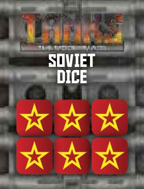 Tanks: The Modern Age - Soviet Dice Set (6) Game Box
