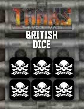 Tanks: The Modern Age - British Dice Set (6) Game Box