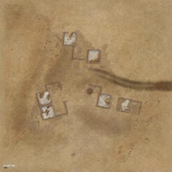 Tanks: Us Desert 3 Game Mat 36in X 36in