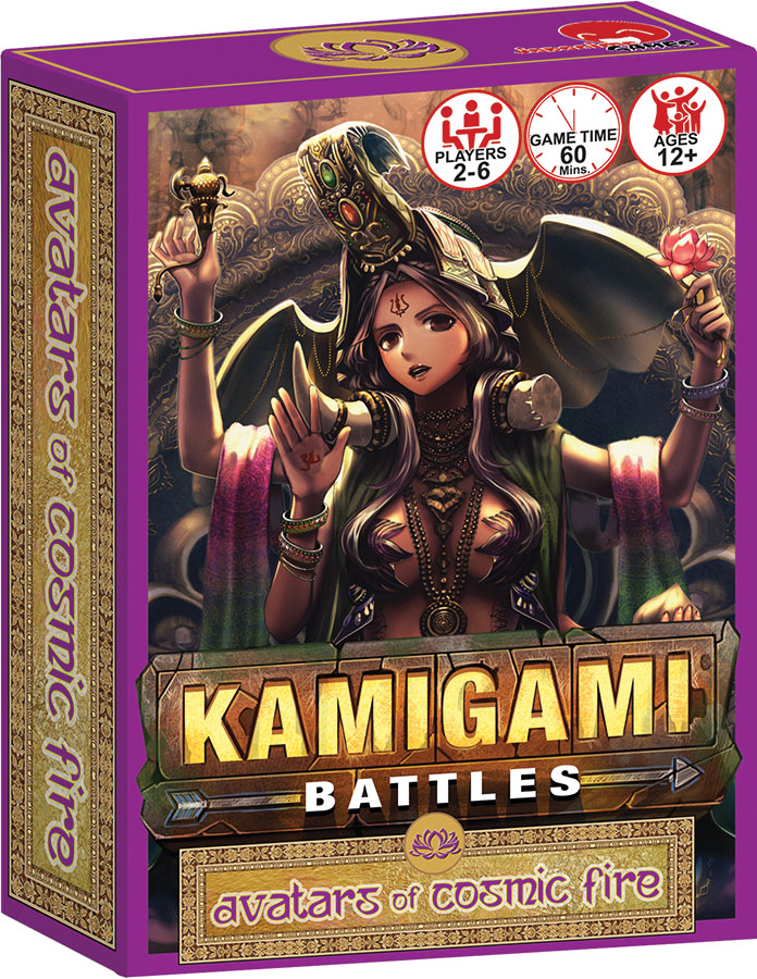 Kamigami Battles: Avatars Of Cosmic Fire Expansion Game Box