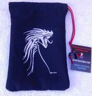 Silver Tribal Dragon/black Dice Bag Box Front