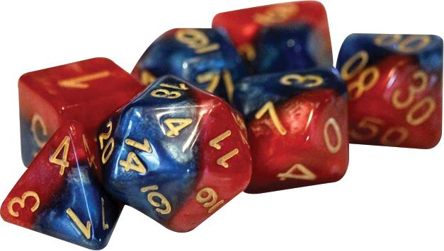 Halfsies Dice - Superdice (7 Polyhedral Dice Set) Box Front