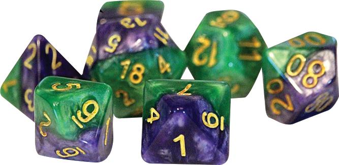 Halfsies Dice - Gamma (7 Polyhedral Dice Set) Box Front