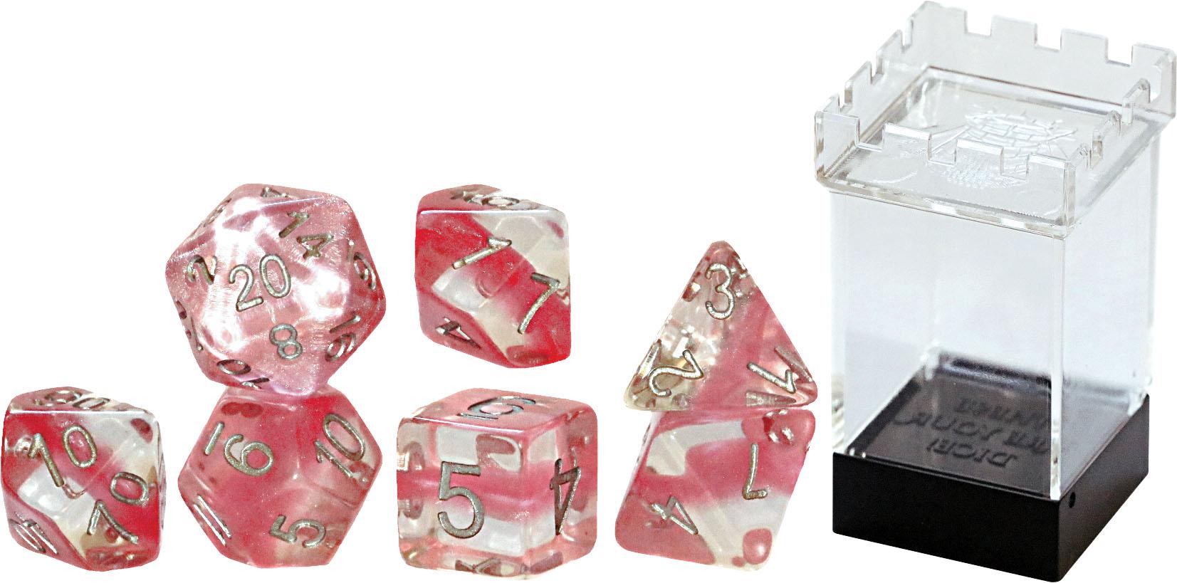 Neutron Dice: Bubble Gum (7 Polyhedral Dice Set)