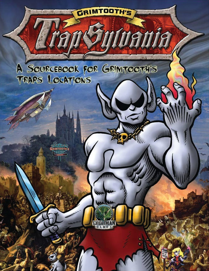 Dungeon Crawl Classics: Grimtooth`s Trapsylvania - Hardback Edition Game Box