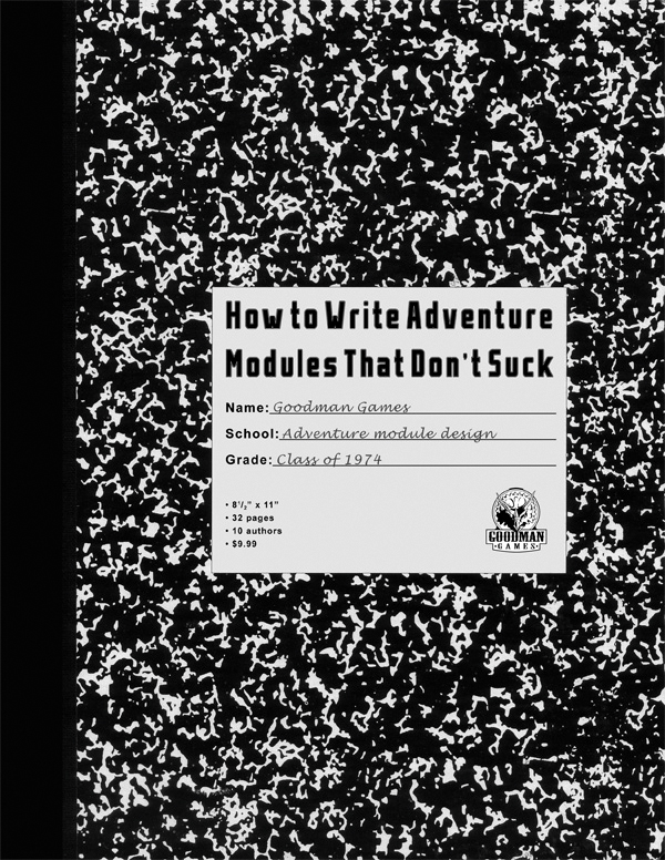 How To Write Adventure Modules That Don`t Suck Box Front