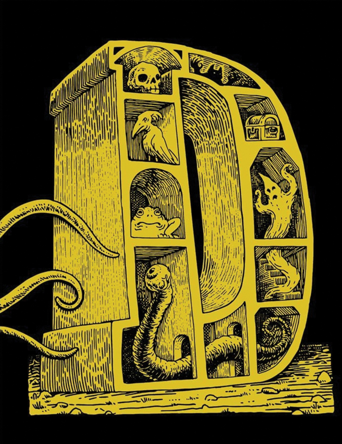 Dungeon Alphabet: Leatherbound Hardback Sourcebook Box Front