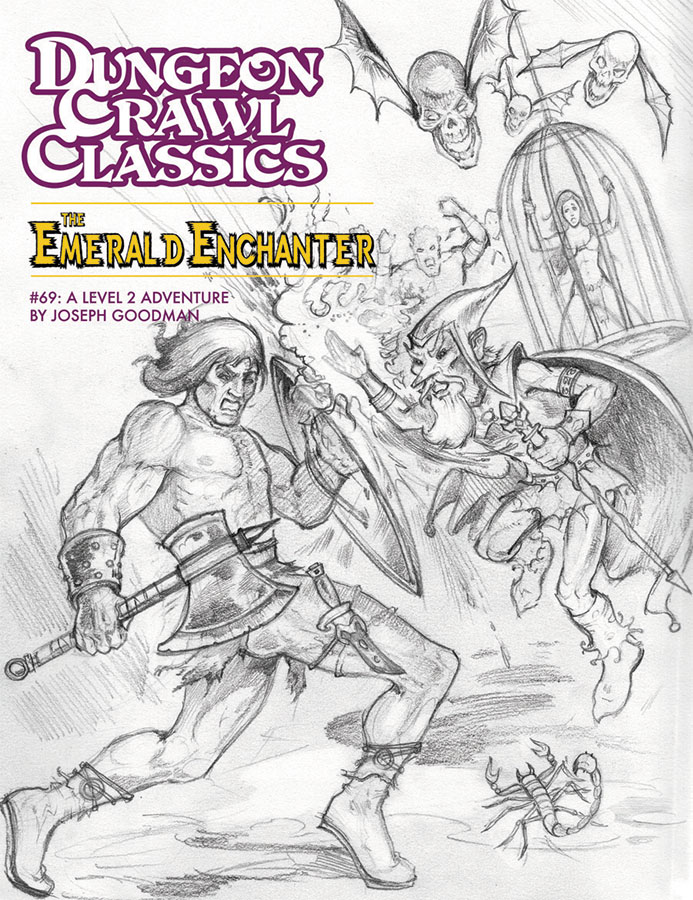Dungeon Crawl Classics: #69 The Emerald Enchanter - Sketch Cover Box Front