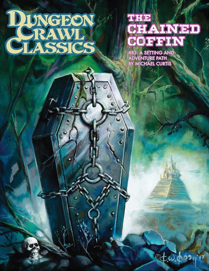 Dungeon Crawl Classics: #83 The Chained Coffin (hardcover) Game Box