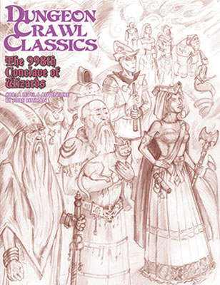 Dungeon Crawl Classics: #88 The 998th Conclave Of Wizards - Sketch Cover Box Front