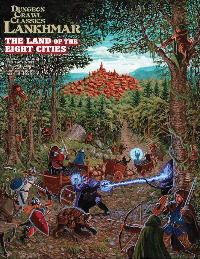 Dungeon Crawl Classics: Lankhmar #8 - The Land Of Eight Cities Game Box