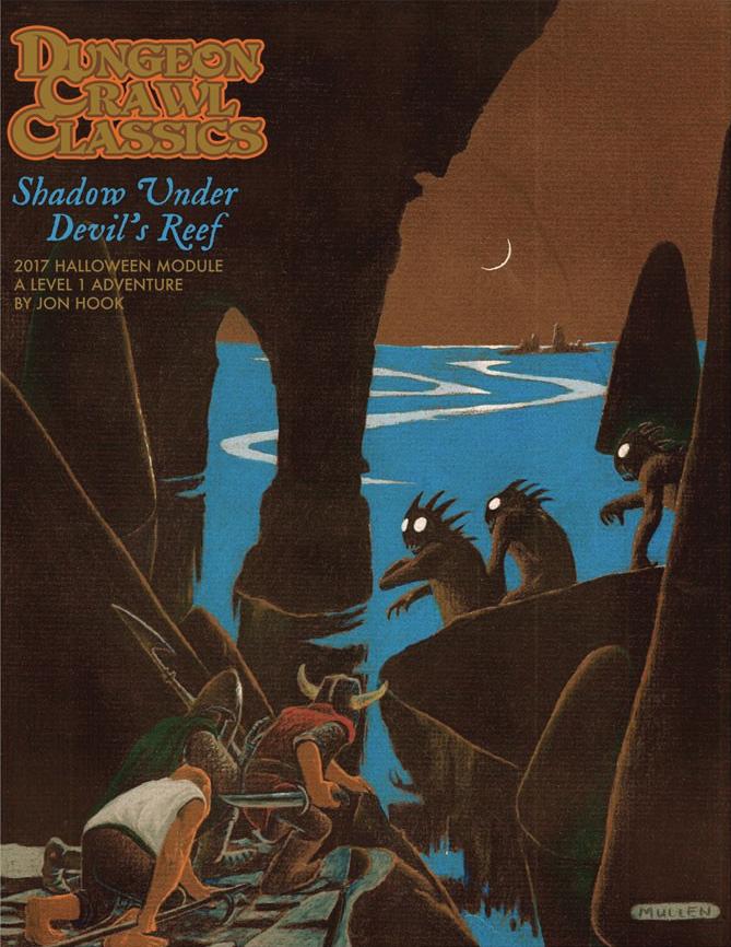 Dungeon Crawl Classics: 2017 Halloween Module - Shadow Under Devil`s Reef Box Front