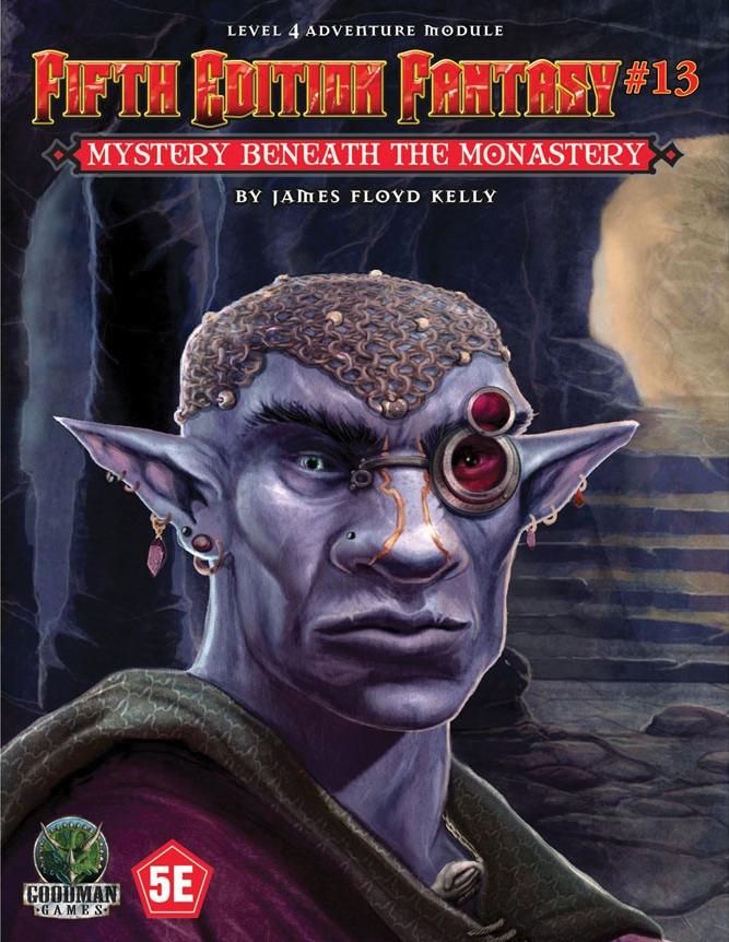 Fifth Edition Fantasy #13: Mystery Beneath The Monastery Box Front