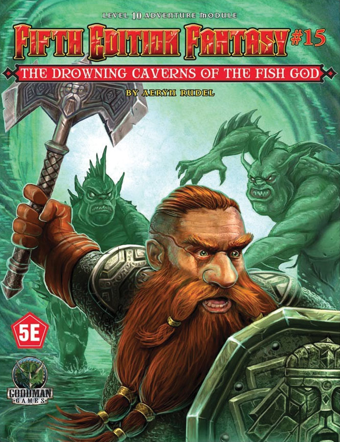 Fifth Edition Fantasy #15: Drowning Caverns Of The Fish God Game Box