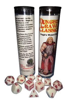 Dungeon Crawl Classics: Hugh`s Weird Dice Box Front