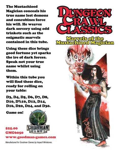 Mutant Crawl Classics Rpg: Marvels Of The Mustachioed Magician Box Front