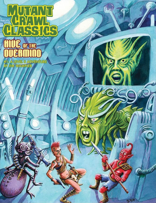 Mutant Crawl Classics Rpg: #1 Hive Of The Overmind Box Front