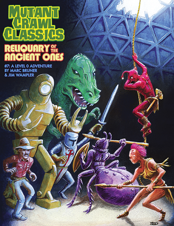 Mutant Crawl Classics Rpg: #7 Reliquary Of The Ancients Gold Key Cover Limited Edition Box Front