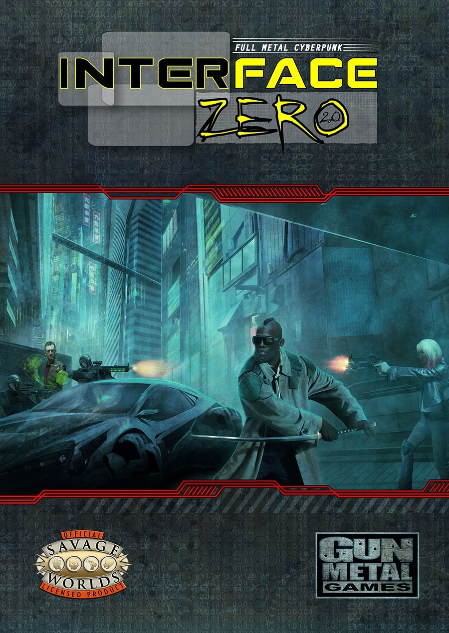 Savage Worlds Rpg: Interface Zero 2.0 - Full Metal Cyberpunk Box Front