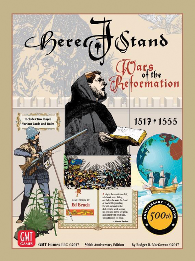 Here I Stand 500th Anniversary Edition - Wars Of The Reformation Box Front