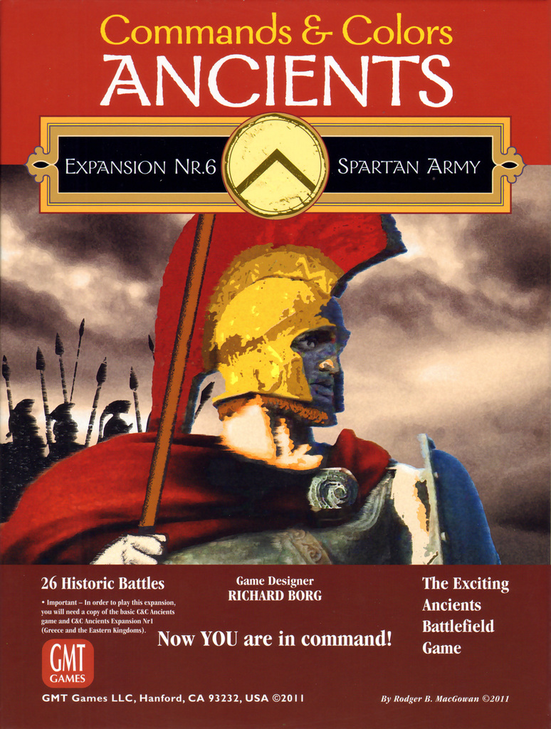Commands And Colors: Ancients Expansion #6 - The Spartan Army Box Front
