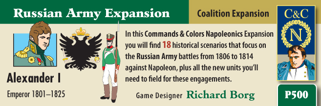 Commands And Colors: Napoleonics Expansion #2 - The Russian Army Box Front