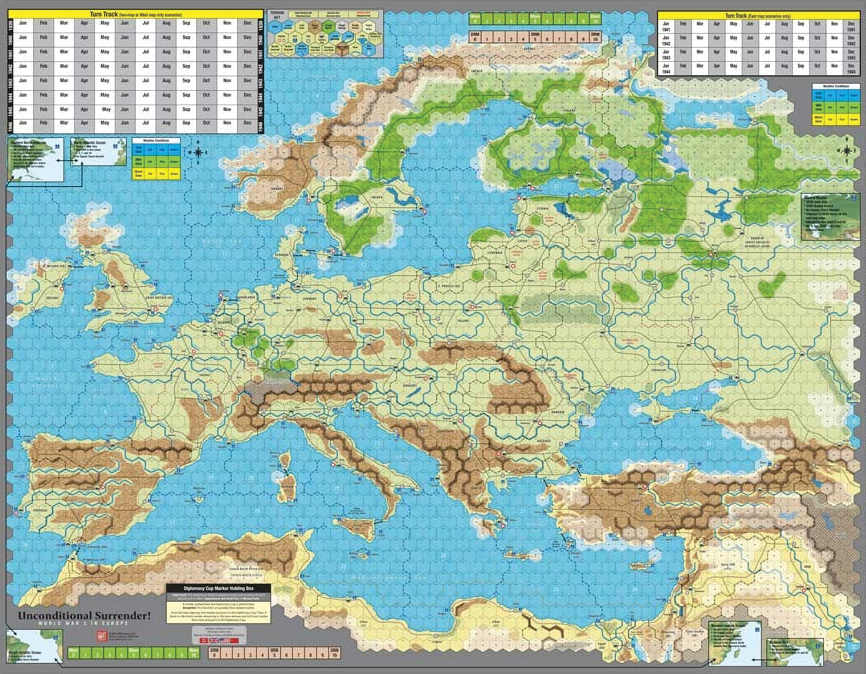 Unconditional Surrender: Mounted Map Set Box Front