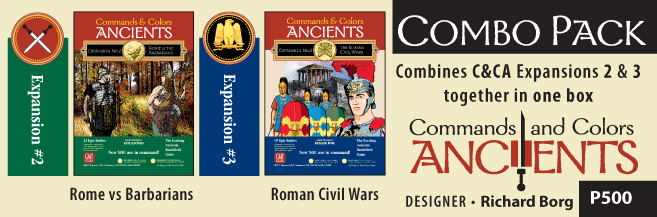 Commands And Colors: Ancients Expansion #2 And #3  Box Front